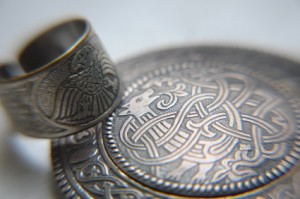 celtic jewelery: ring and brooch